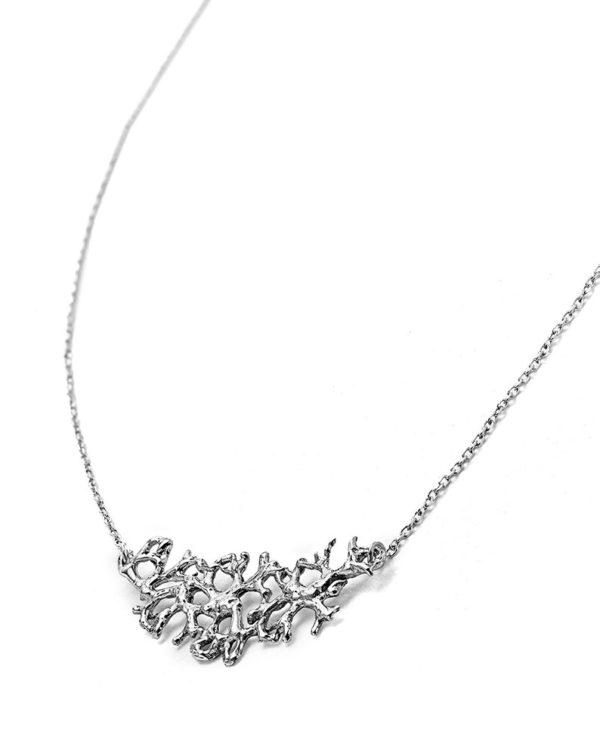 Pendentif Lichen large argent Laura Guitte Jewellery