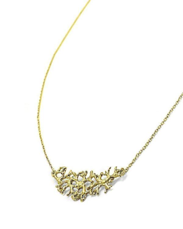 Collier Lichen plaqué or