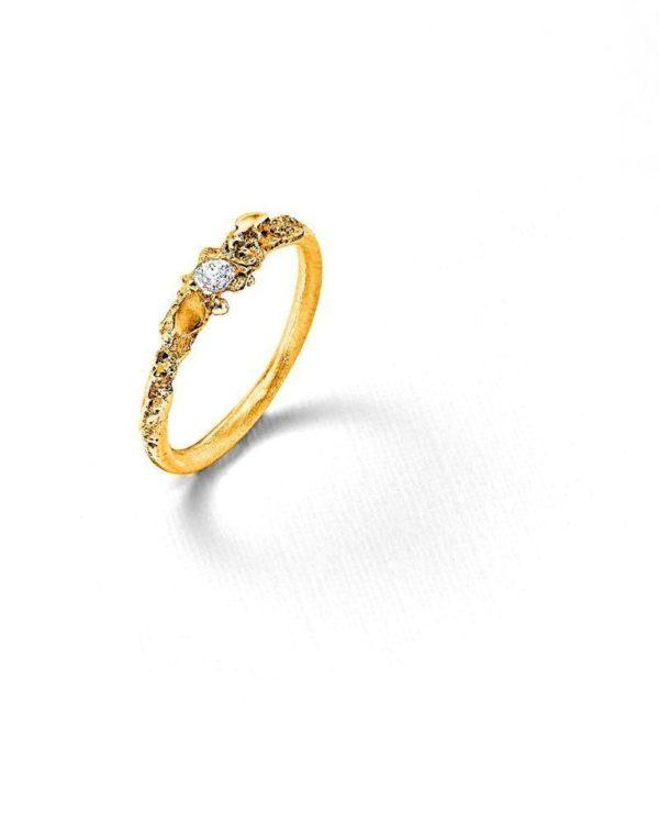 Solitaire or jaune diamant Laura Guitte