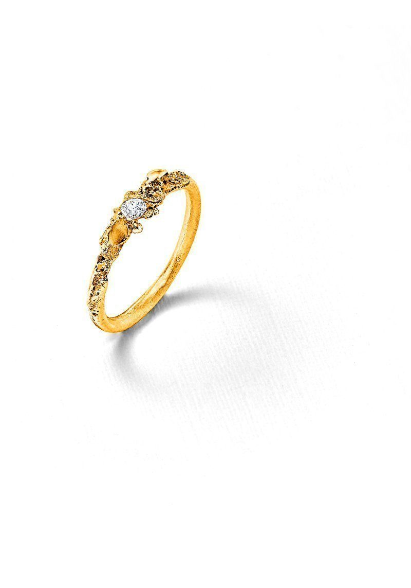 Solitaire or jaune diamant Laura Guitte