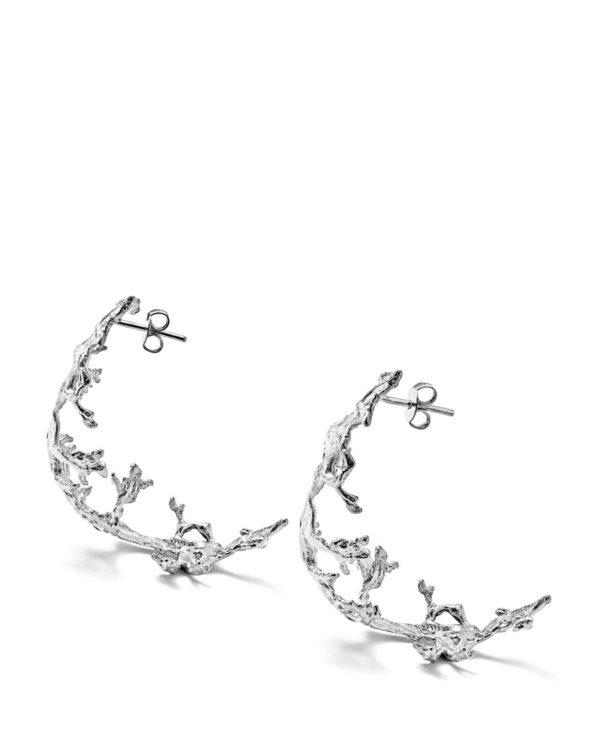 Creoles-lichen-argent-laura-guitte-jewellery