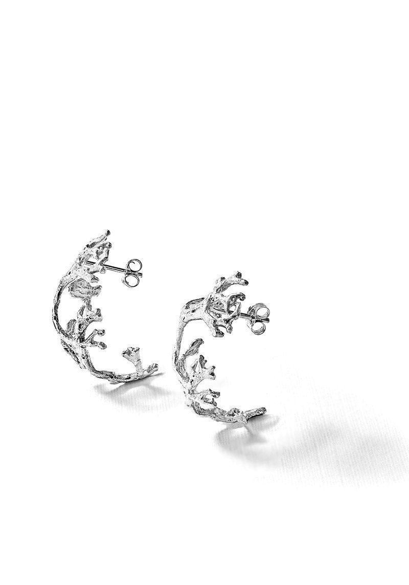 Boucle-d-oreille-lichen-argent-laura-guitte-jewellery