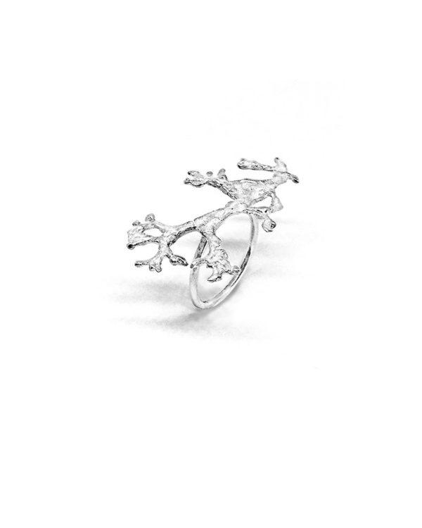 Bague argent Lichen bijoux créateurs Lyon 7