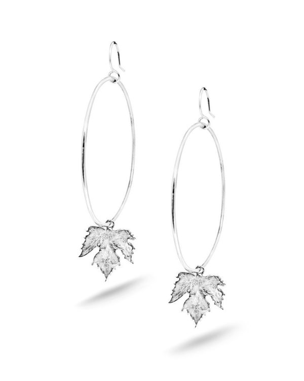 Boucles d'oreilles feuilles vigne argent Laura Guitte Jewellery