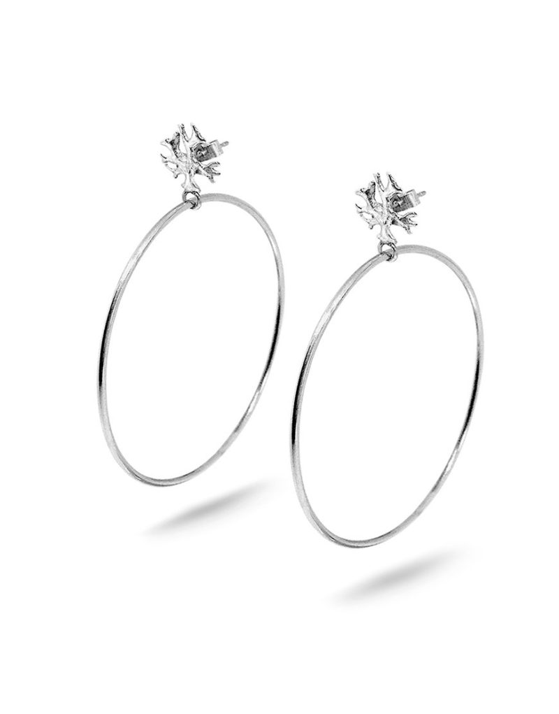 Silver Lichen Hoops Laura Guitte Jewellery