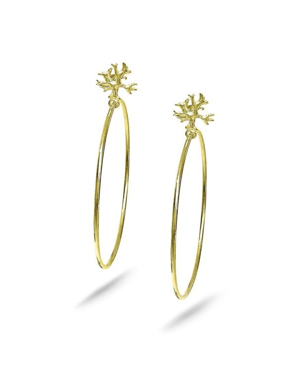 Gold plated Lichen hoops Laura Guitte Jewellery