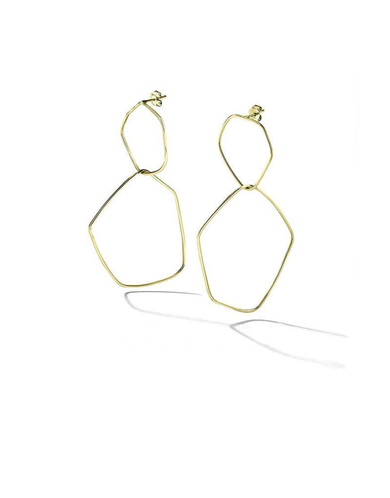 Boucles d'oreilles plaquées or géométriques Laura Guitte