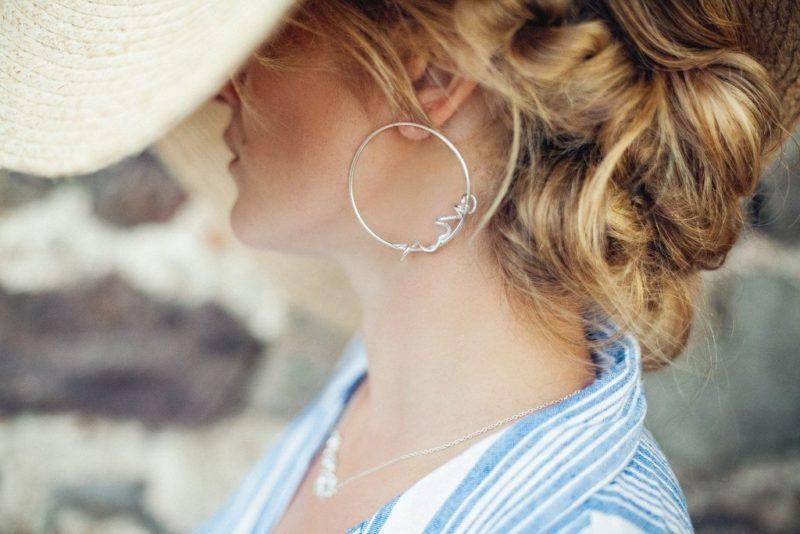 Créoles Argent bijouterie lyon créatrice bijoux Laura Guitte